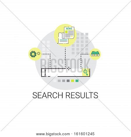 Search Result Web Data Business Icon Vector Illustration