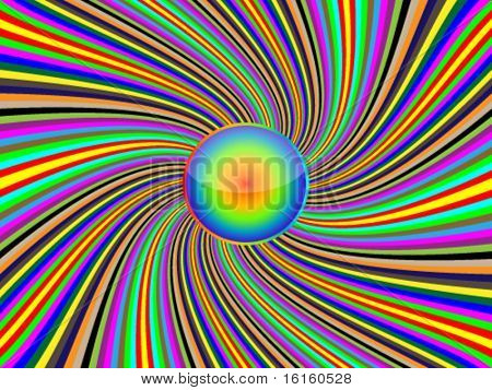 Abstract background colorful deflated