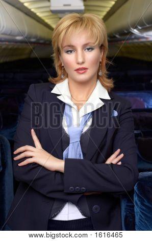 Blond Air Hostess