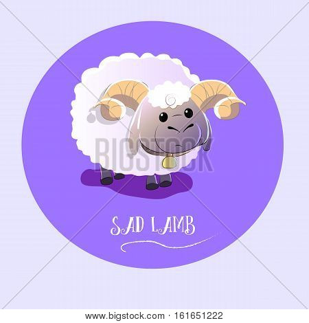vector illustration of a sad lamb. very nice picture.