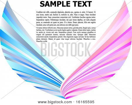 (raster image of vector) abstract design template