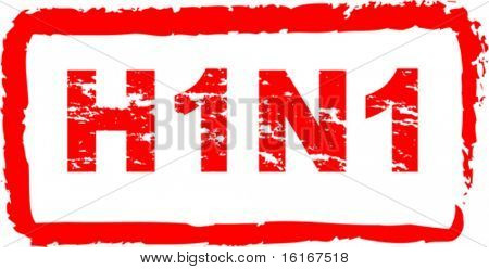 Swine flu virus stamp vector illustration