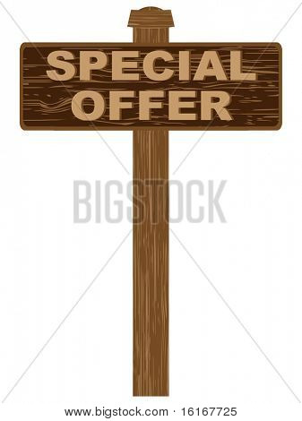 (raster image of vector) advertising banner for sales special offer