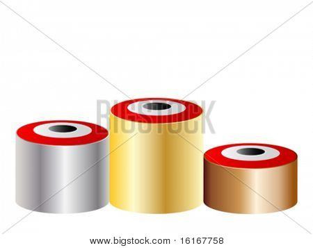 3d podium with target on it- vector illustration