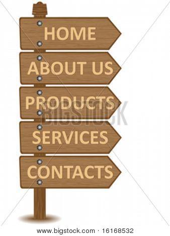 website menu template vector illustration