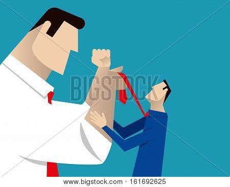 Business Conflict. Concept Business, Illustration, Vector , Flat