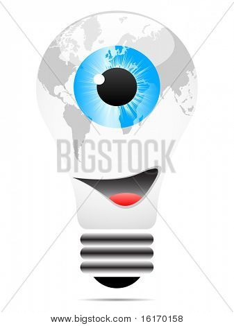 (raster image of vector) spy the world