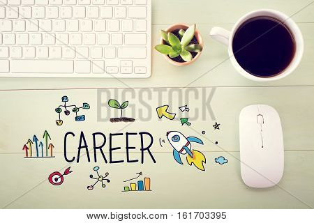 Career Concept With Workstation