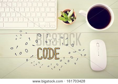 Code Concept With Workstation