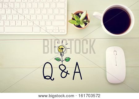 Q And A Concept With Workstation