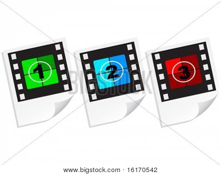 countdown photo frame vector illustration