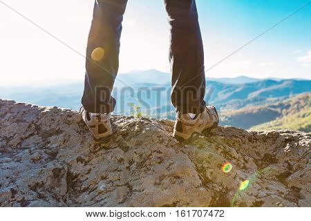 Man At The Edge Of A Cliff