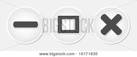 (raster image of vector) web buttons