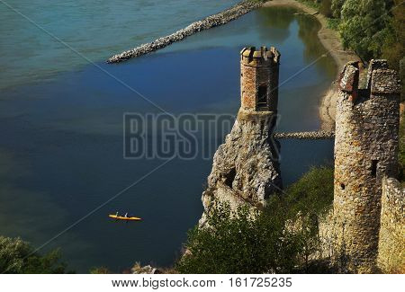 Devin castle ruins near  to Bratislava Slovakia