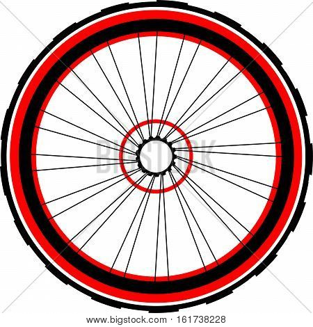 Bicycle bike wheel isolated on white background