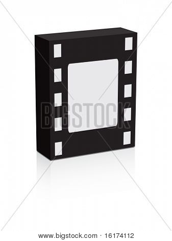 (raster image of vector) box with filmstrip pattern
