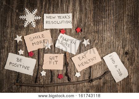 Christmas Sleds Made Of Branches And New Year Resolutions