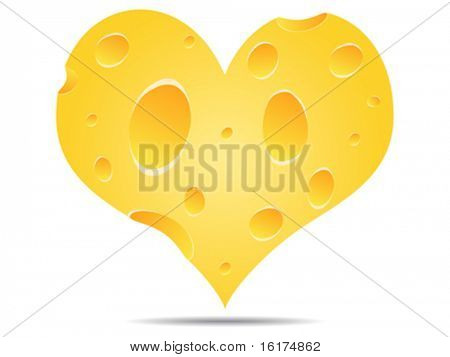 heart made of cheese