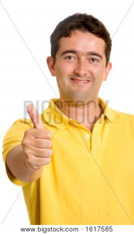 Casual Guy With Thumbs Up