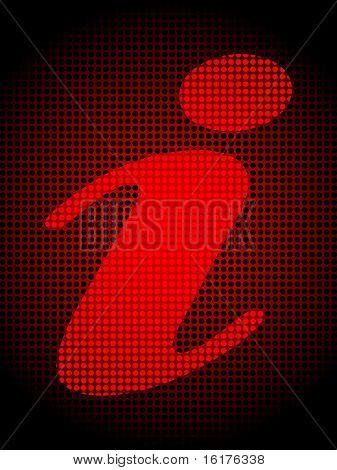 (raster image of vector) information background