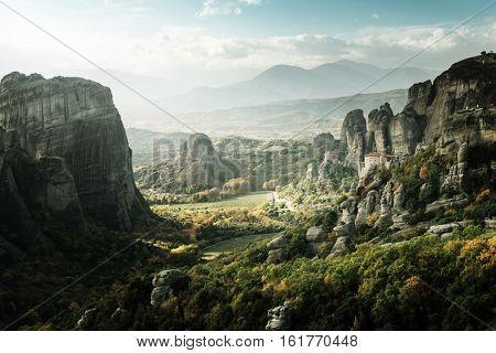 Meteora monasteries in Greece