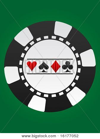 (raster image of vector) poker chip