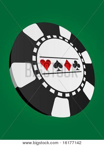 (raster image of vector) poker chip
