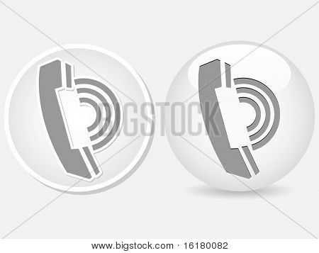 (raster image of vector)   contact buttons