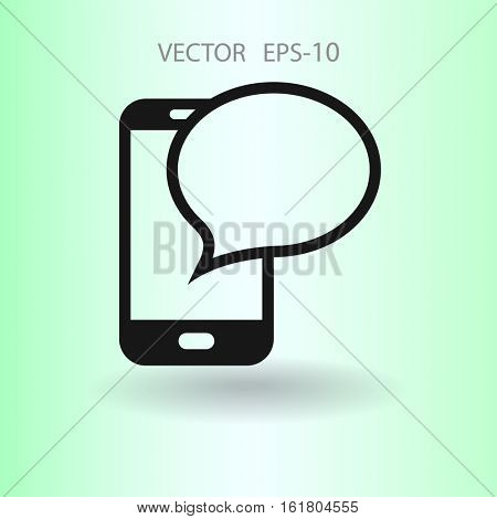 sms icon. vector illustration