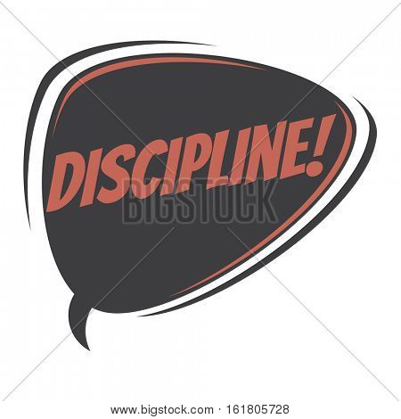 discipline retro speech balloon