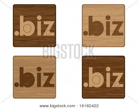 (raster image of vector) biz icon