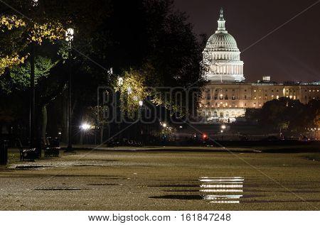 United States Capitol after the rain - Washington DC USA