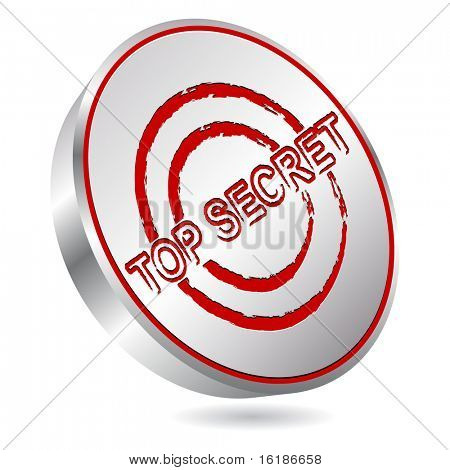 (raster image of vector) top secret stamp