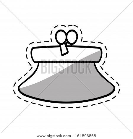 purse wallet money saving cut shadow vector illustration eps 10