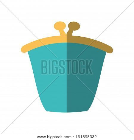 green purse wallet money saving flat icon vector illustration eps 10
