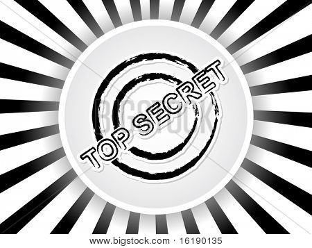 (raster image of vector) top secret banner