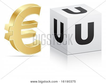 (raster image of vector) european union