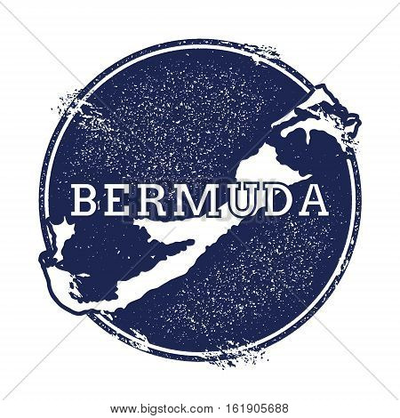 Bermuda Vector Map. Grunge Rubber Stamp With The Name And Map Of Island, Vector Illustration. Can Be