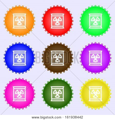 Radiation Icon Sign. Big Set Of Colorful, Diverse, High-quality Buttons. Vector