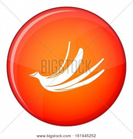Banana peel icon in red circle isolated on white background vector illustration