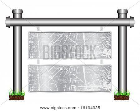 (raster image of vector) grunge banner