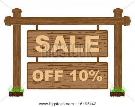 advertising banner for sales ten percent discount