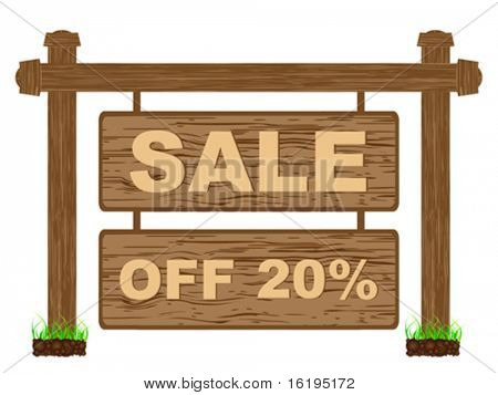 advertising banner for sales twenty percent discount