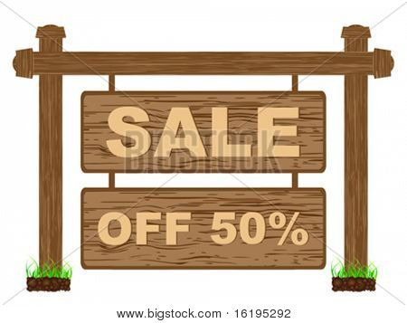 advertising banner for sales fifty percent discount