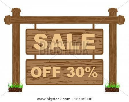 advertising banner for sales thirty percent discount
