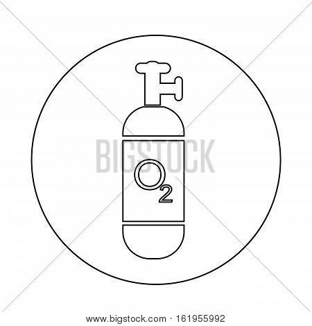 an images of Oxygen Cylinder icon illustration design