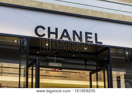 Las Vegas - Circa December 2016: Chanel Retail Mall Location. Chanel Is Widely Known For Its High-en