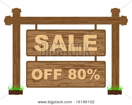 advertising banner for sales eighty percent discount