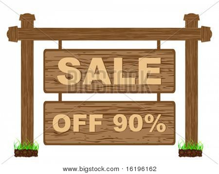 advertising banner for sales ninety percent discount