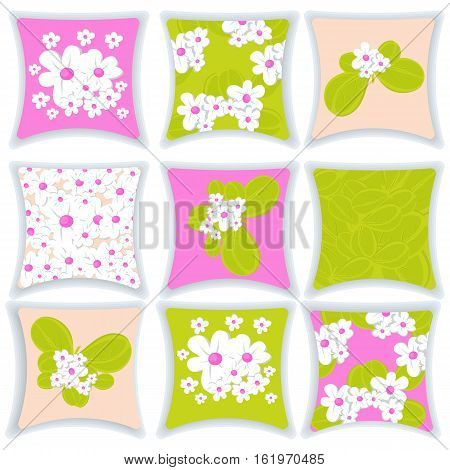 A pillow menu vector illustration. Pillow isolated on white background